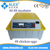 Made in China import export of thailand AI-48 hatcher chicken egg incubator