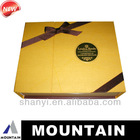 Mountain new product cardboard box leather wine carrier