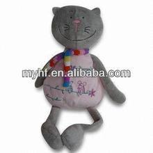 2014 baby soft toys lovely grey kitty