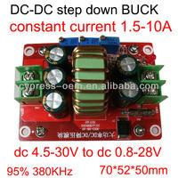 dc dc step down converter 30v 28v 24v to 20v 12v 5v constant current 10A max