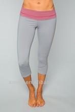 women designer capri pants split leg sexy gym wear