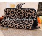 Leopard Flip Card Slot PU Leather Case For Samsung Galaxy SIV S4 I9500