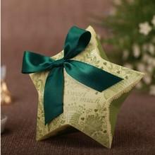 five-pointed star shape folding chocolate favor box