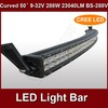 hotsale 50inch 288w spot flood combo beam car led light bar 12v BS-288V