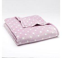"60"" x 72"" - Lavender Dot MicroPlush Fleece Throw Oversized Blanket"