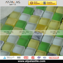 green yellow glass mosaic for swimming pool tile