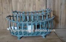 S/2 Bigfortune French Vintage Garden Metal baskets