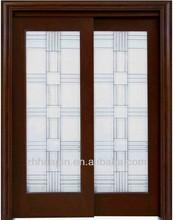best price fire rated wooden glass door