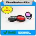 La interferencia 1308nm estrecha óptica bandpass filtro de infrarrojos se utilizan ir de imagen térmica& térmica de detección, la cámara de infrarrojos