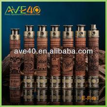electronic cigarette pure wool mod vision mech 18650 mod wood ecig