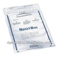 Customized Disposable Plastic deposit money Bags