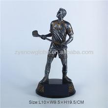 Resin hockey player trophy