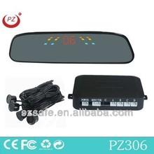 LED digital display parking sensor system car reverse backup radar