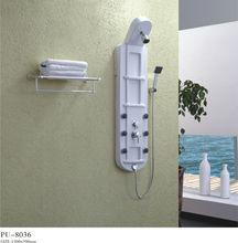 zhejiang 2014 new model bathroom white acrylic shower column installation