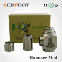 full stainless steel Best e cig mod hammer, battery 18650 kato hammer mod clone,best price