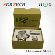 2014 most popular hammer clone mechanical mod , hammer ecig mod,big vapor hammer mod supply