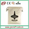 eco-friendly drawstring cotton muslin bag with custom logo printing