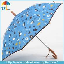 customized printing cartoon pictures for kids umbrella