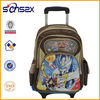 Colorful kids luggage school trolley bag