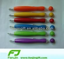 Fashion plastic ball top pen dot top pen