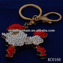 Custom cheap metal 3D Sheep keychain