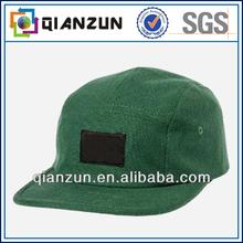 Atractive custom 100% cotton green 5 panel snaoback cap