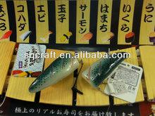 Amazing popular fake juicy fish meat sushi handicraft model for decorative gift items
