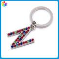 llavero alfabeto letras az plata con brillantes cristales bling llavero de regalo personalizado llavero