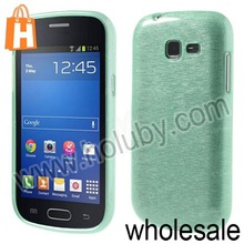 Brushed Design Soft TPU Jelly Back Case for Samsung Galaxy S7392 S7390 Trend Lite