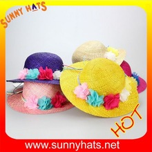 2014 wheat straw new summer beach hats for children