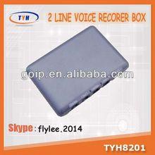 Hot sale! 2 lines voice recorder box,antique brass telephone