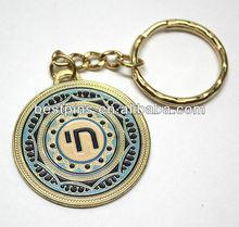 Israel key ring chain travelers prayer Hebrew Jewish gift key tag