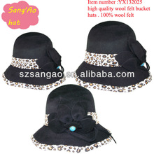 Wholesale/Making Popular round womens cloche hats&cap ladies lana females wear cap100%wool felt for festvial/party/wedding/topee