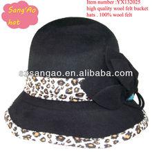 Wholesale/Making Popular round ladies cloche hat woman lana females wear cap100%wool felt for festvial/party/wedding/topee