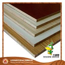 Hot sale 18mm wood grain color melamine MDF board for furniture