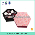 factory hexagonal packaging box of chocolate with printing