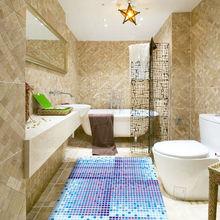 eco friendly pvc foam printed anti-slip roll mat carpet bath