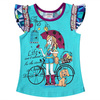 Ajiduo summer wear children clothes girl's clothes fold short-sleeves t-shirt clothing manufacturers in China