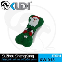 Merry Christmas gift bone pet toy with squeaky XWI013