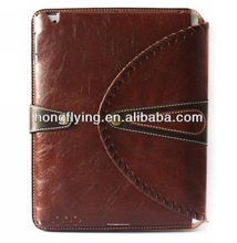 2014 the Deluxe Leather Case Cover for ipad mini New ipad 2/3/4