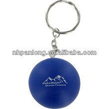 bule round Stress Ball Key Chain Pu ball stress ball wholesale