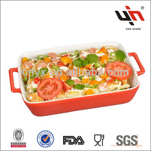 Y2399 Red ceramic bakeware