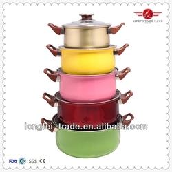 stainless pot,pots pans removable handles