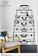 Suitcase design wall sticker for interior design