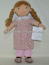 2014 suave muñeca de juguete de niña rubia de hong kong juguetes de enero justo nuestro nuevo diseño