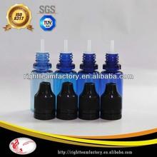 ISO8317 10ml blue plastic dropper bottle pet childproof&tamperproof cap eliquid/ejuice/ecig bottle