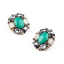 Wholesale Fashion Statement Shourouk Rhinestone Stud Earrings Accessories E10195