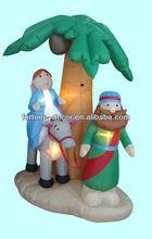 Inflatable decoration Jesus under coconut palm