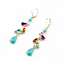 Wholesale Fashion Statement Shourouk Rhinestone Candy Earrings Accessories E10197