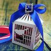 2014Teda Die Cut bling bling wedding favor boxes